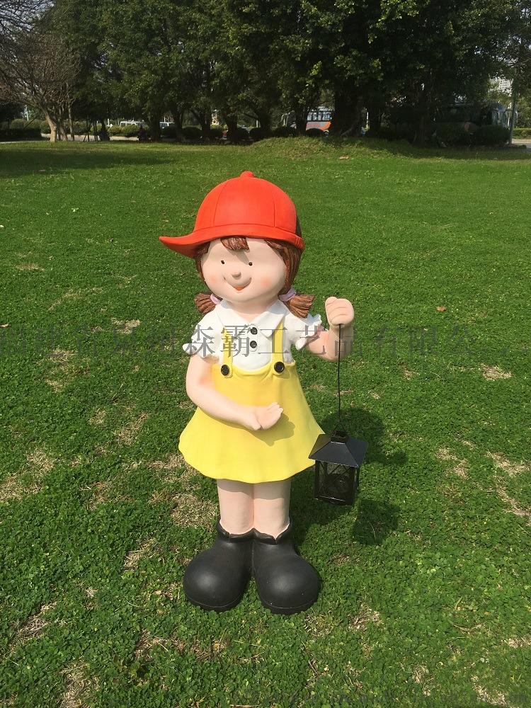 卡通人物男女小孩 户外园林树脂雕塑 花园庭院摆件85541085