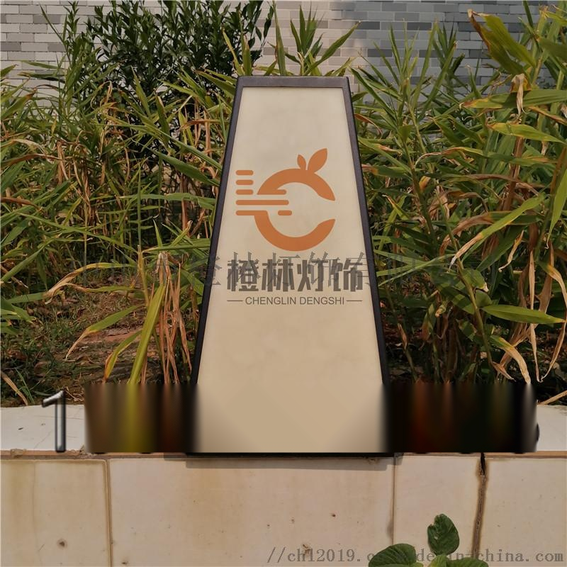 日式宫灯落地灯餐厅景观灯户外仿云石立柱灯门口水景灯126408735