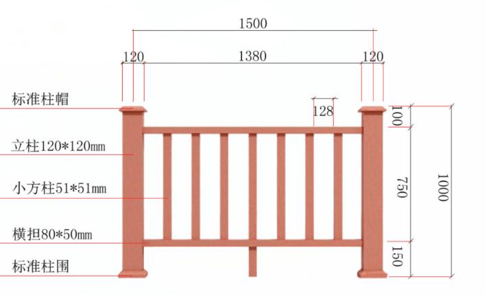 塑木護欄、塑木欄杆、塑木扶手、塑木圍欄、塑木柵欄56461452