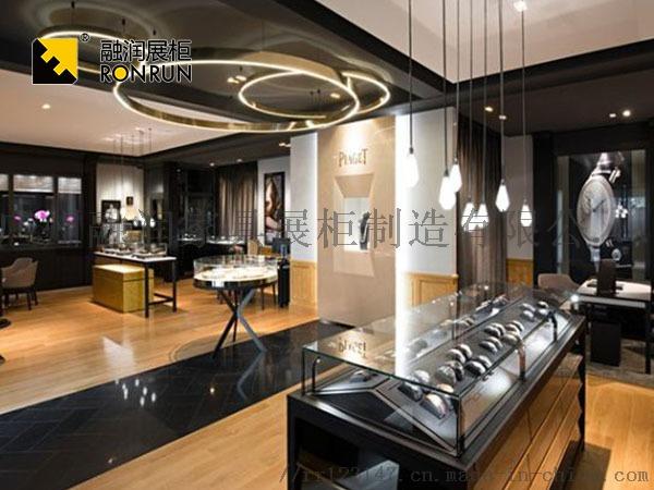 融潤展櫃定做珠寶店珠寶展櫃 不鏽鋼珠寶櫃檯製作105912325