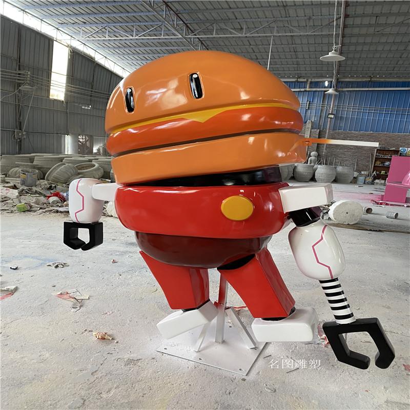 广州机器人主题餐厅雕塑 玻璃钢卡通雕塑造型904957265