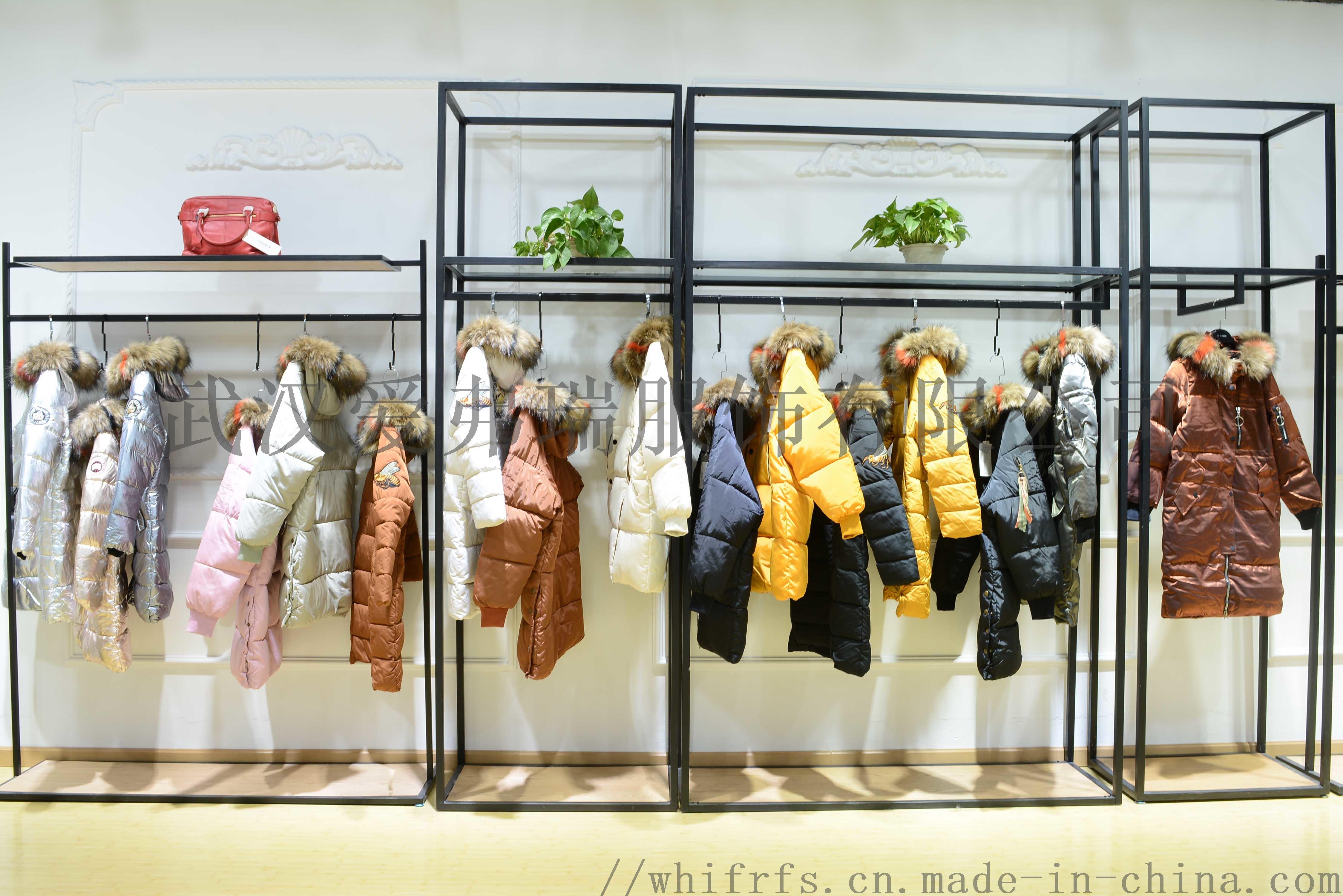 一二线品牌女装折扣变革18年冬装羽绒服大衣尾货走份800268345