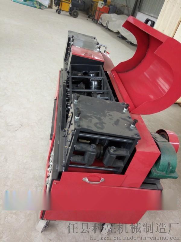 双曲线钢管调直机 架子管除锈刷漆机多少钱一台730389762