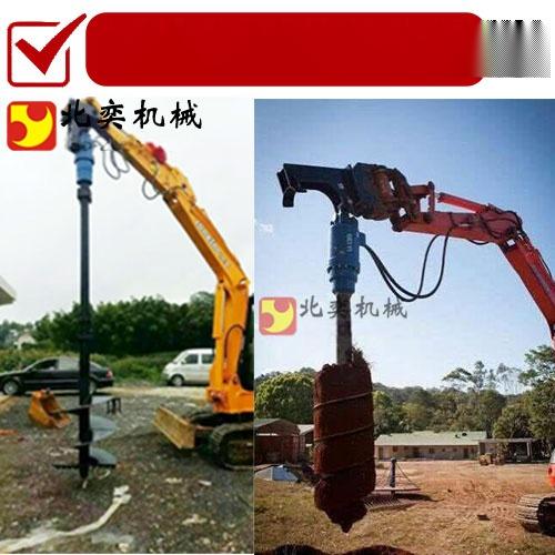 勾机钻土机工作原理 挖掘机螺旋钻土机62667445