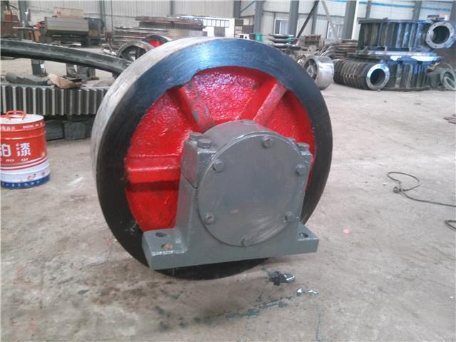 Φ2.0x16米转轴式煤泥烘干机托轮直径550规格20101405