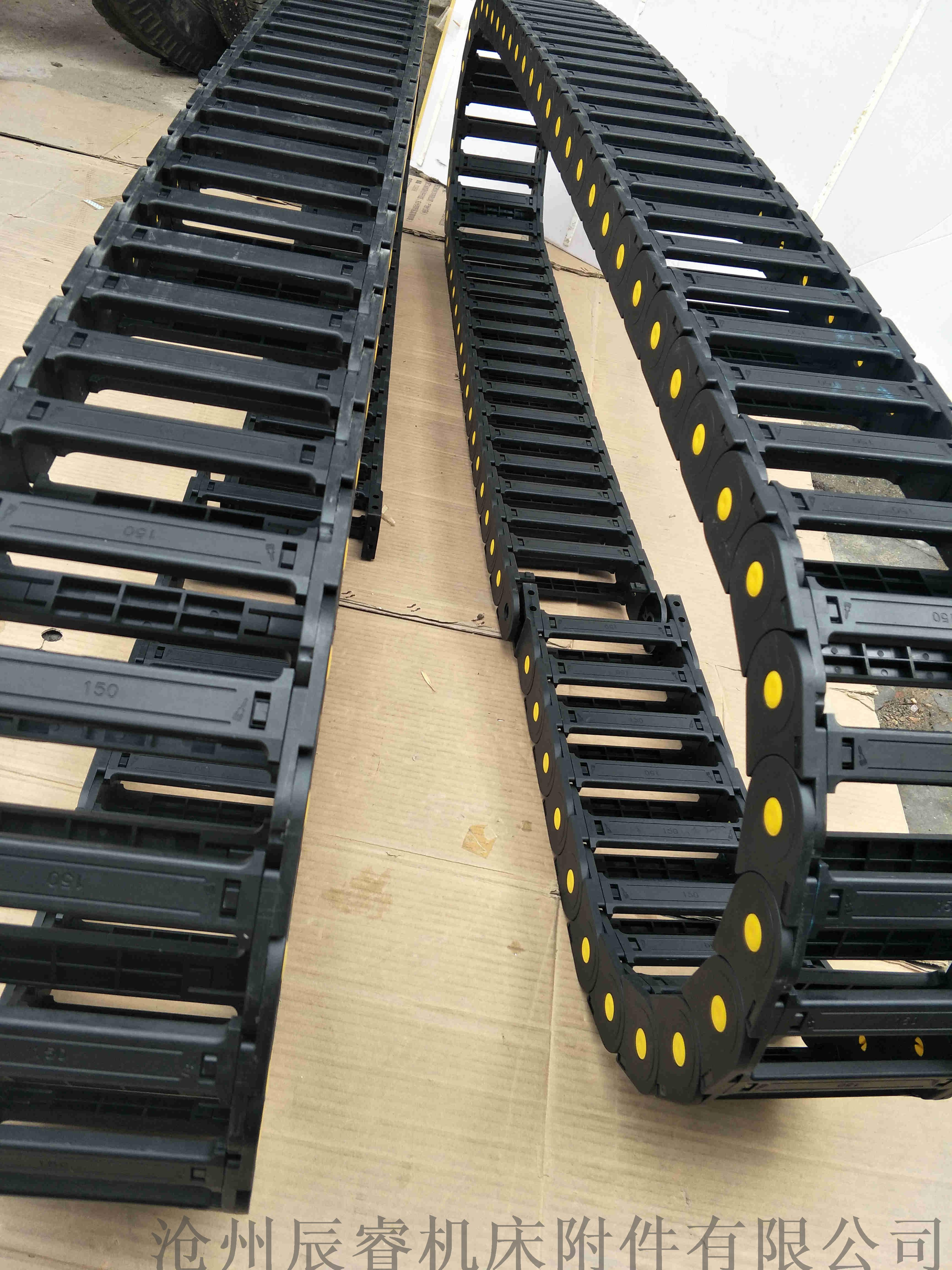 尼龍66橋式塑料拖鏈 濟寧路橋設備塑料拖鏈828553605