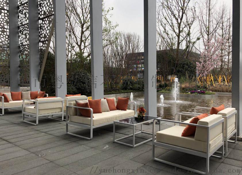 休闲不锈钢沙发茶几组合 商场不锈钢沙发870384015