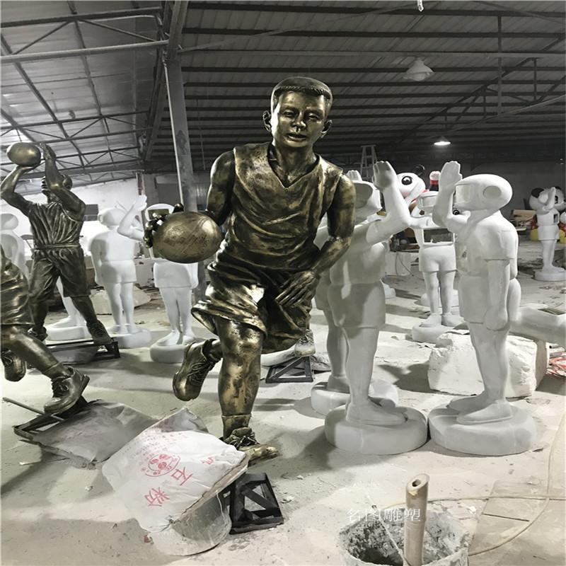 玻璃钢打篮球人物雕塑校园广场仿铜人物雕塑133446755