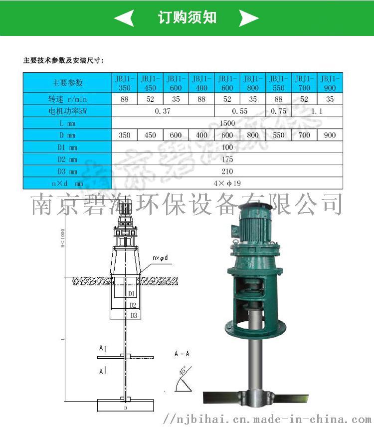 低轉速,大直徑框式潛水攪拌機JBK300074101515