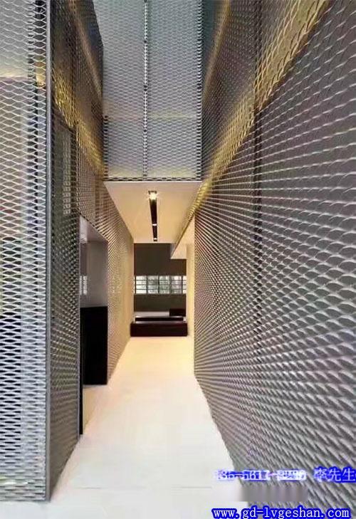 铝板网装饰 铝网格板背景墙 铝网板隔断