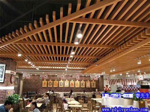 木纹铝方通吊顶 商场铝方通天花 铝方通木纹