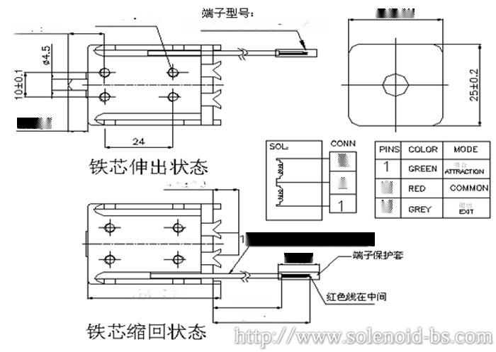 广东飞织机电磁铁 BS-0940N60013695