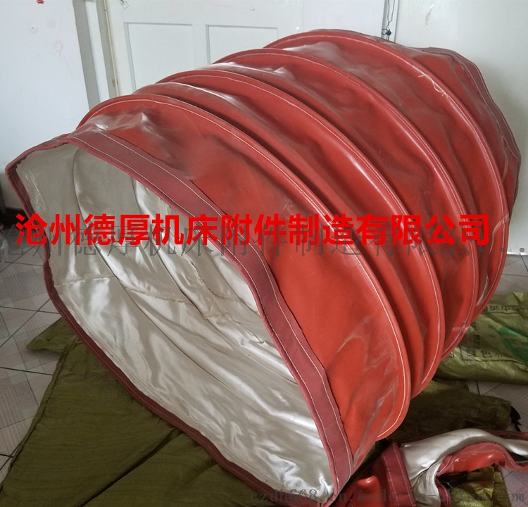 红硅胶+高硅氧软连接