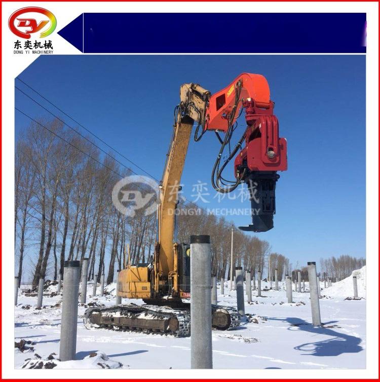 日立挖掘机改装打桩机 打拔桩机 打拔钢板桩机768988335