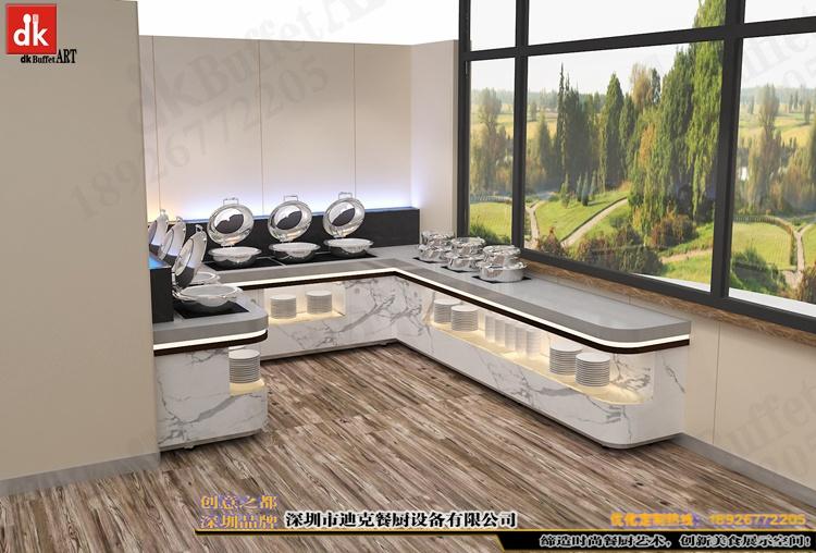 体检中心自助餐台 单位用餐取餐台 职工餐厅自助餐台定制2.jpg