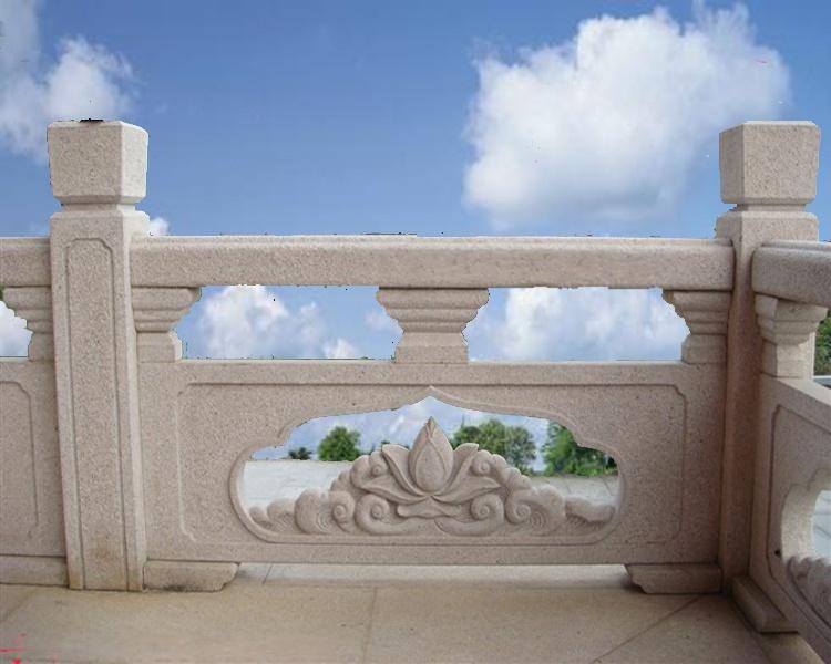 石雕栏杆厂家 青白石栏杆 花岗岩栏板 石雕围栏63897462
