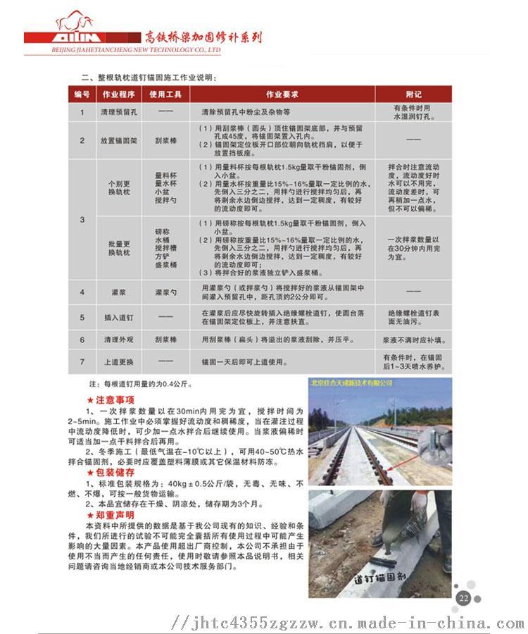 銅川道釘錨固劑鐵路軌枕道釘更換專用119895635