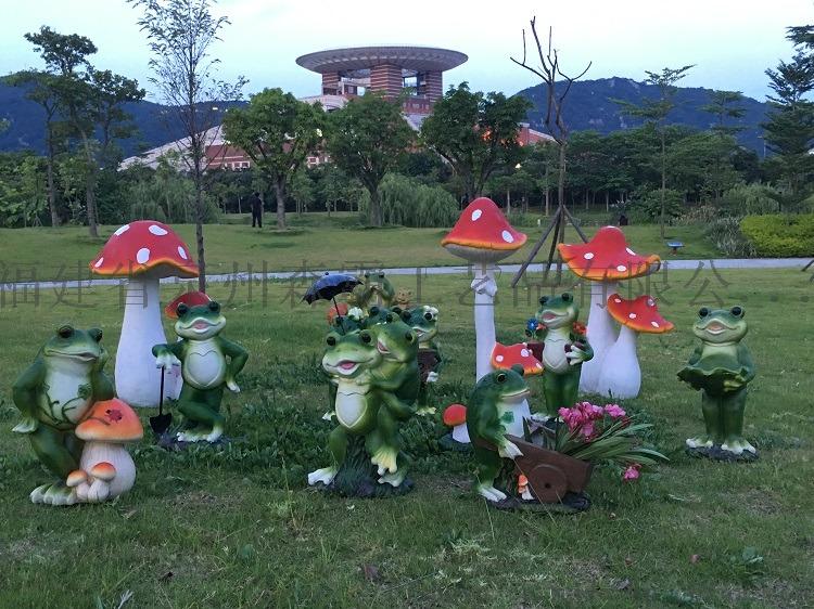 卡通仿真青蛙摆件 户外玻璃钢动物雕塑园林景观工艺品85563415