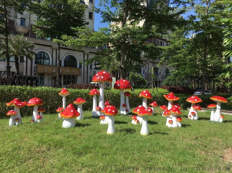 树脂工艺品花园庭院草地摆件 卡通仿真大蘑菇摆件85578305
