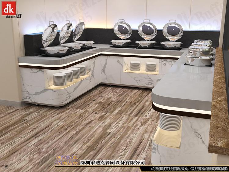 体检中心自助餐台 单位用餐取餐台 职工餐厅自助餐台定制1.jpg