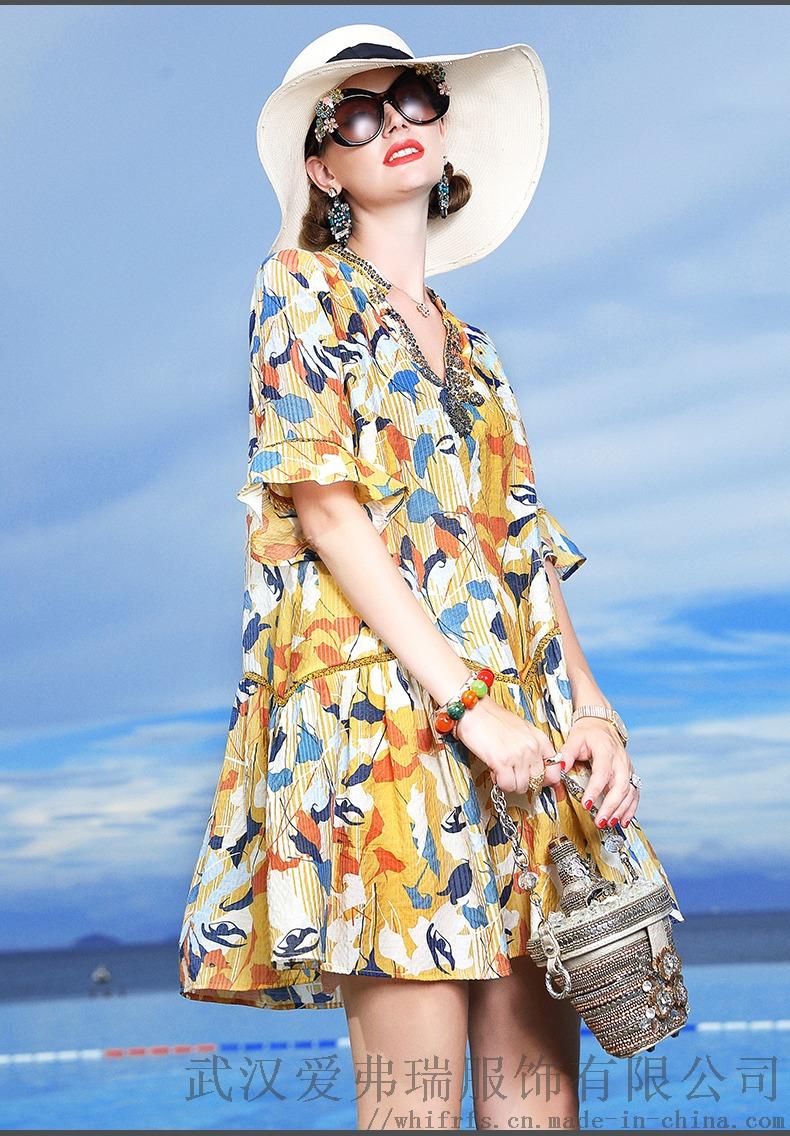 卡尼歐2020春五分袖寬鬆中長款裙子進貨要注意什麼893542925