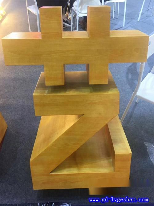铝方通字体造型 定做仿木纹铝字 铝方管字体定做