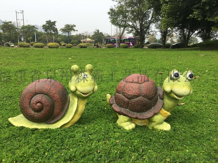 廠家直銷 模擬卡通動物烏龜和蝸牛 外貿樹脂工藝品85618185