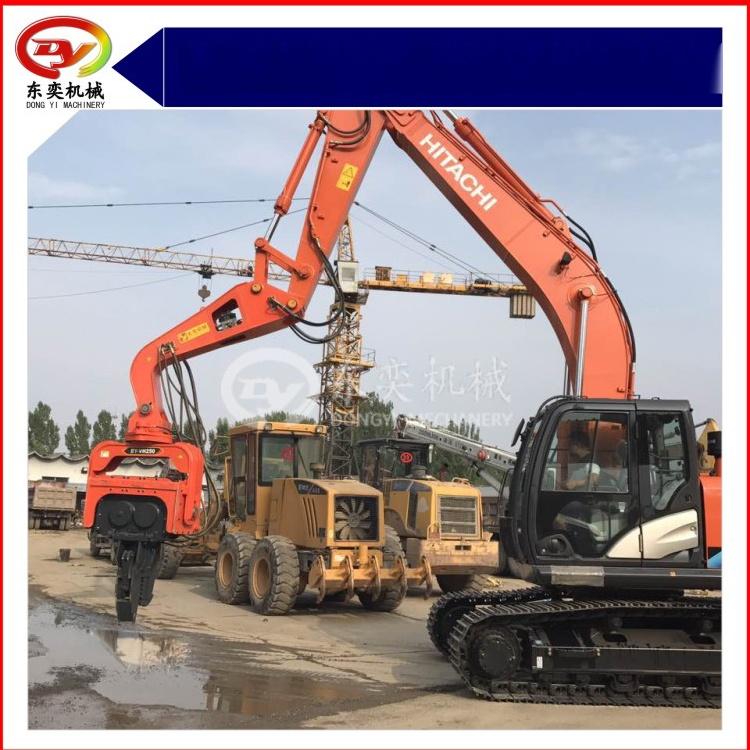日立挖掘机改装打桩机 打拔桩机 打拔钢板桩机768988325