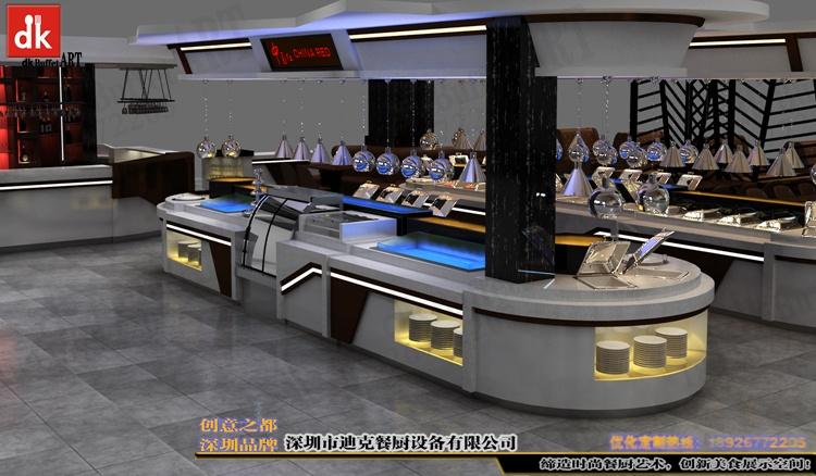 欧洲酒店自助餐厅改造 自助餐台设计制作 移动布菲台厂家深圳迪克 (2).jpg