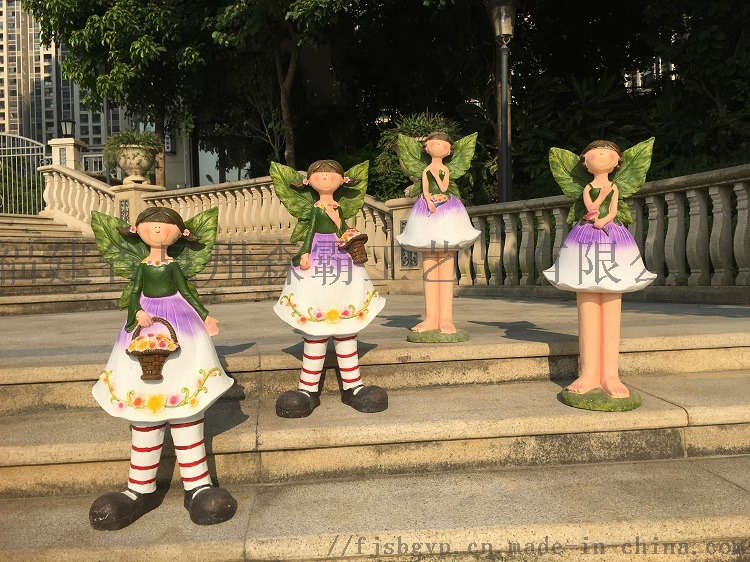 卡通花仙子雕塑工藝品花園戶外幼兒園擺件批發85544225