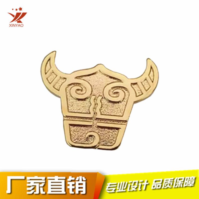 公牛头图案外形金属徽章 定做工艺礼品徽章795939685