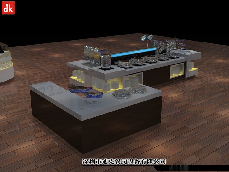 迪克餐廚設計 移動布菲臺專業定製 配套自助餐檯設備92879605