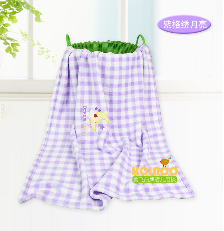 婴儿抱毯品牌_珊瑚绒 婴童用毯抱毯空调毯车毯 单层印花毯卡通绣花毯子【价格 ...