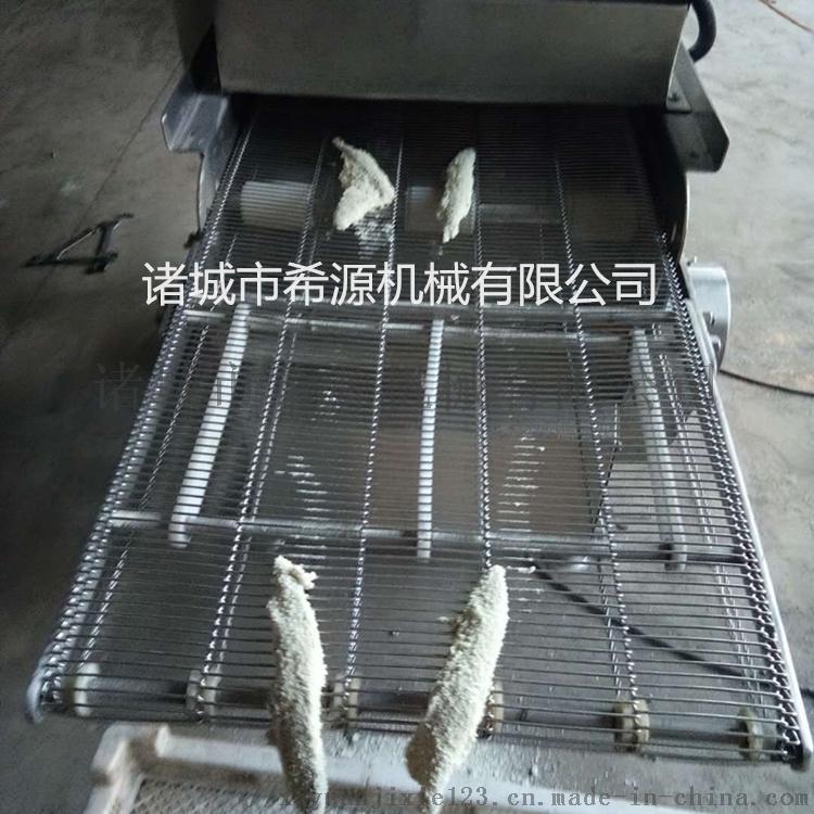 鱿鱼条裹粉机供应厂家 鱿鱼片平行式上粉机报价779790462