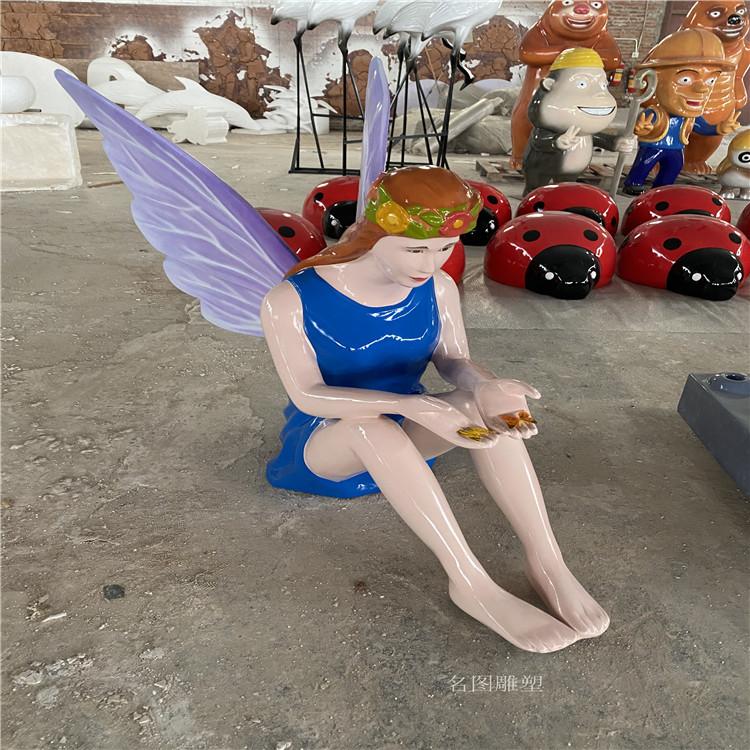 广西玻璃钢天使人物雕塑 **女神雕像935616775