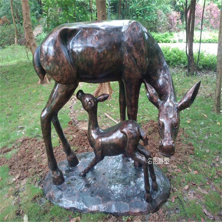 楼盘景观几何鹿雕塑 不一样玻璃钢抽象鹿群展示931046965
