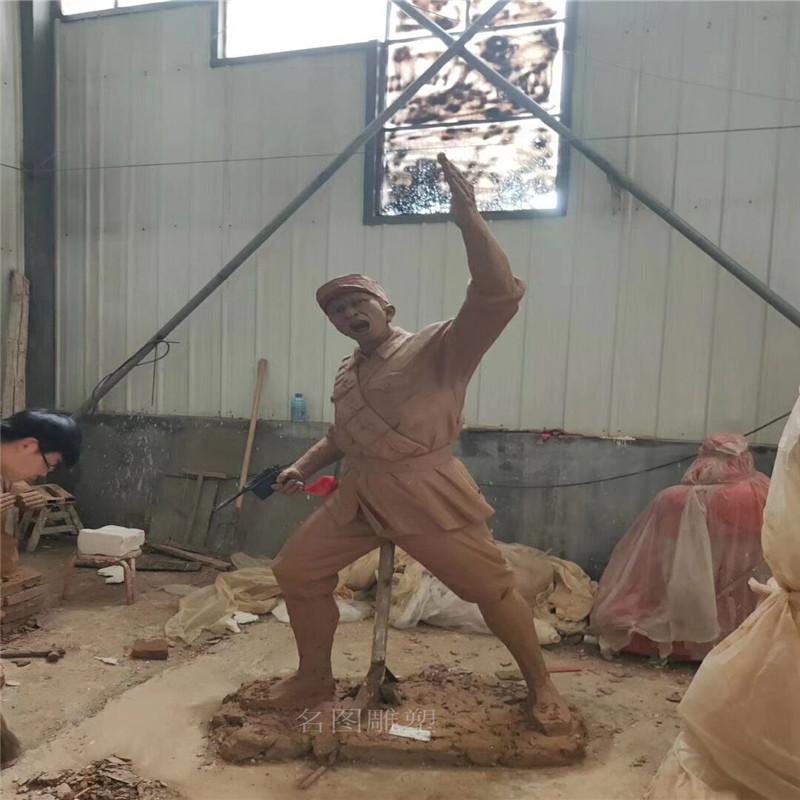 佛山爱国主题雕塑玻璃钢仿铜人物雕塑873961045