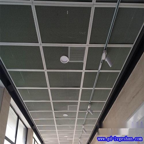 铝板网吊顶贴图 铝网板天花效果图 吸音铝网天花