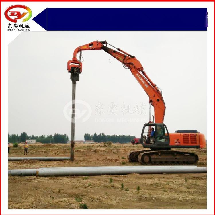 日立挖掘机改装打桩机 打拔桩机 打拔钢板桩机768988355