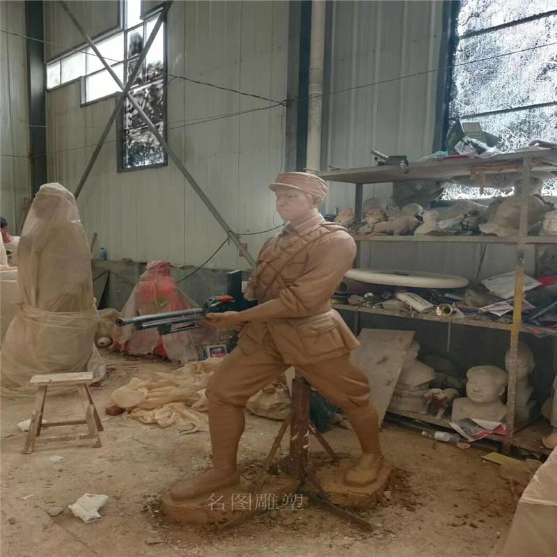 佛山爱国主题雕塑玻璃钢仿铜人物雕塑873961075