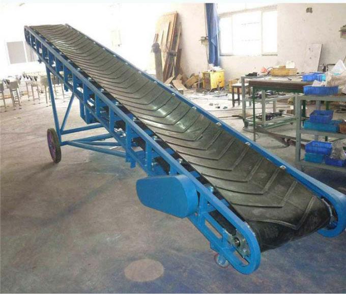 散裝玉米裝卸車輸送機,電動升降移動式送料機Lj120609242