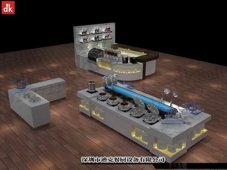 迪克餐廚設計 移動布菲臺專業定製 配套自助餐檯設備92879555
