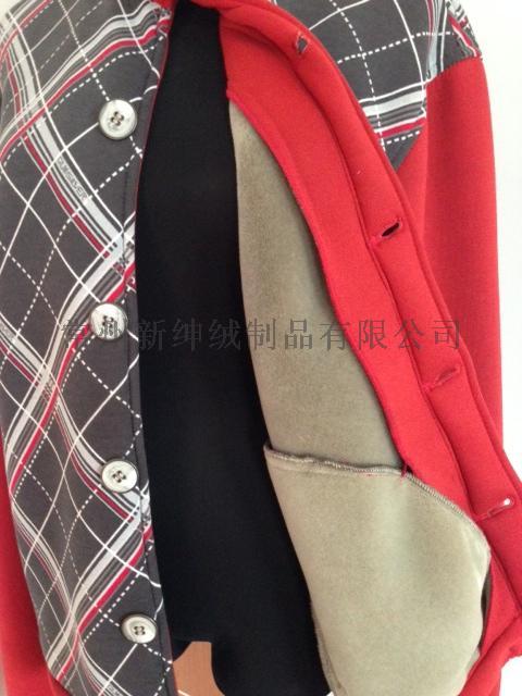 汗布/针织布海绵复合植绒面料卫衣148688065