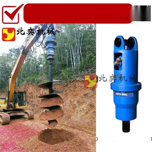 勾機鑽土機工作原理 挖掘機螺旋鑽土機62667425