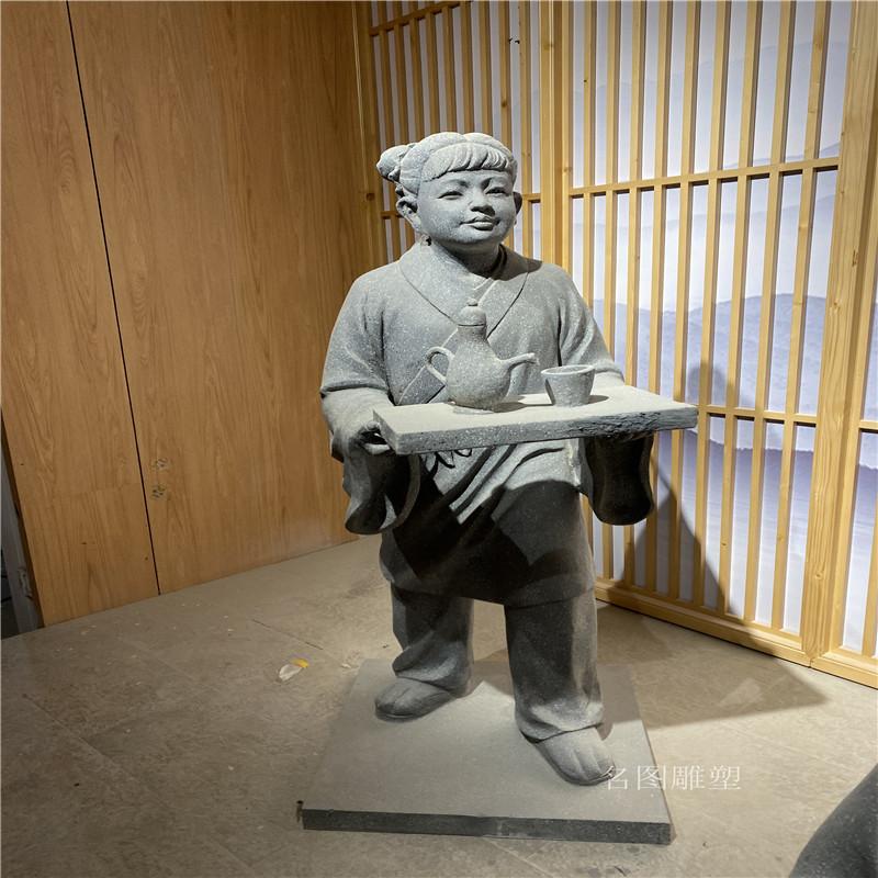 云浮衍生药业展厅人物雕塑 玻璃钢仙童道士雕像912581405