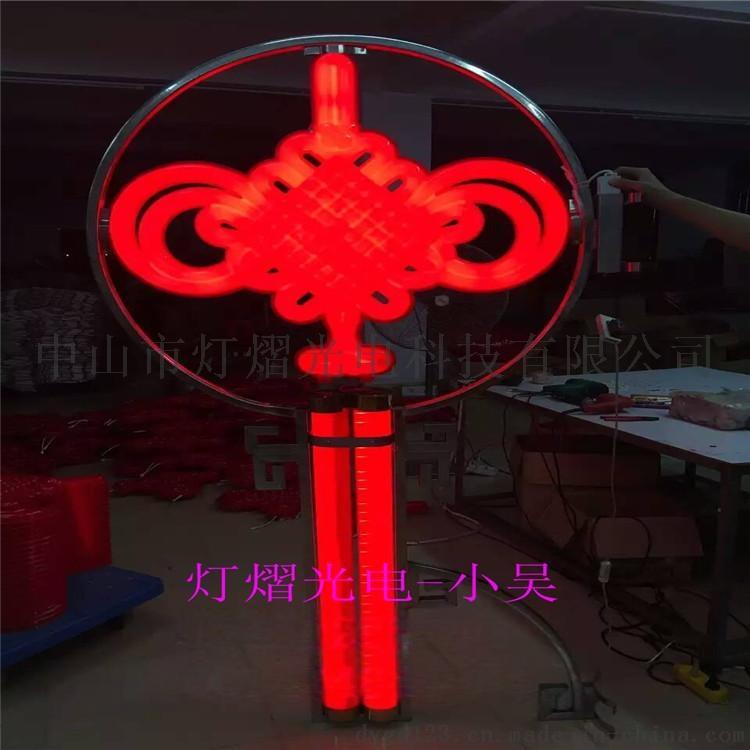 路燈杆裝飾燈 亞克力中國結 吸塑燈籠770128685