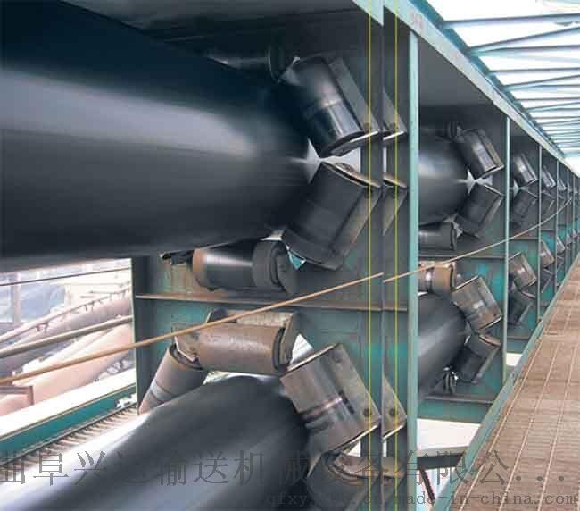 沙石用管状输送机   圆管状皮带运输机732537522