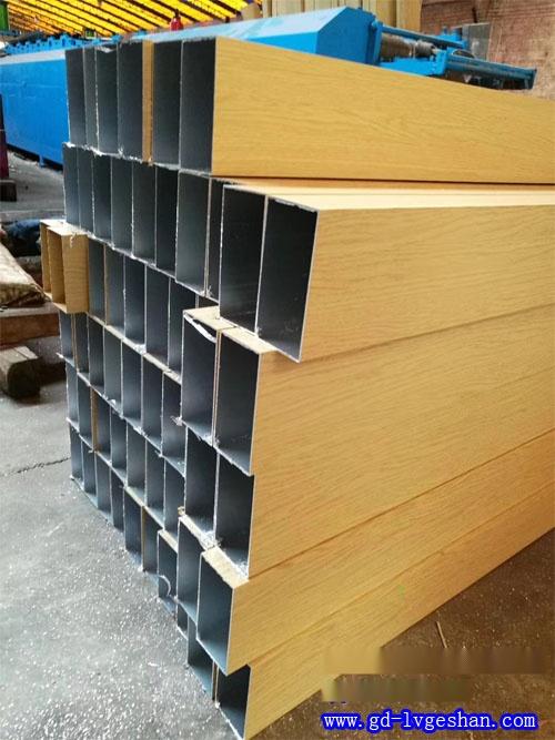 木纹铝方管厂家 铝合金木纹方管 木纹铝方通定做