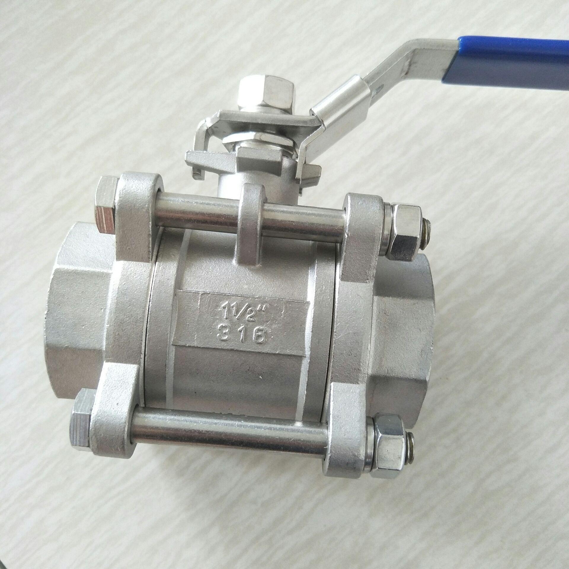 不锈钢三片式球阀 DN40 3PC球阀11/2寸810955082