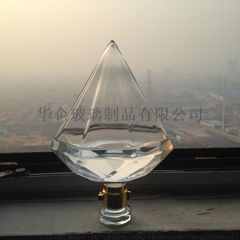 鑽石造型玻璃酒瓶創意威士忌玻璃瓶801990975